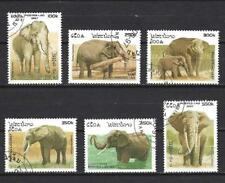 Laos 1997 Eléphants (125) Yvert n° 1275 à 1280 oblitéré used