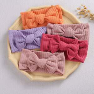 Corduroy Baby Rabbit Headband Cotton Elastic Bowknot Hair Band Girls Newborn Bow