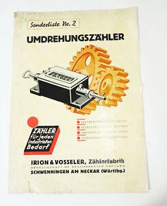 Collection Compte-Tours Irion & Vosseler Schwenningen Goulot 1930er (D7