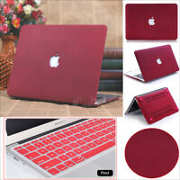 """WineRed Quicksand Matte Hard Case+Keyboard Cover for MacBook Air Pro 11"""" 13"""" 15"""""""