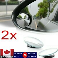 2x Car Blind Spot Mirror Convex Wide Angle Rear Side View For Vehicle Suvs Truck