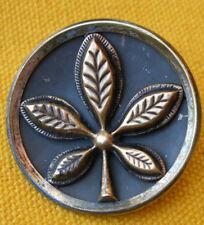 ANCIEN BOUTON bi-métal FEUILLE DE MARRONNIER 35 mm / ANTIQUE FRENCH LEAF BUTTON
