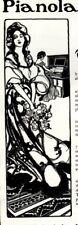1902 ad Vintage Pianola Piano Beautiful Art Kelly Springfield Tire Marlin bullet