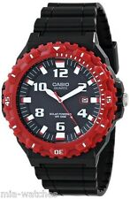 Casio MRWS300H-4B Mens Black/Red Resin TOUGH SOLAR 100M Analog Diver Watch