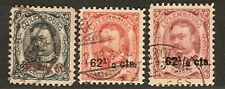 Luxembourg 1912-15, Surcharges   Scott  94-96