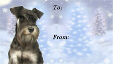 Minature Schnauzer Christmas Labels by Starprint - Auto combined postage