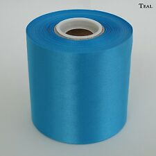 "4"" Wide Teal Ceremonial Ribbon for Grand Opening Ceremony 50 Yard Roll"
