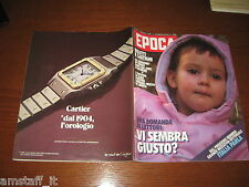 RIVISTA EPOCA 1983 N.1731=ELENA LUISI=VITTORIO VALLETTA=COUSTEAU IN AMAZZONIA=