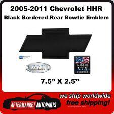 2005-2011 Chevrolet HHR Black Powder Coat Bordered Bowtie Rear Emblem AMI 96004K