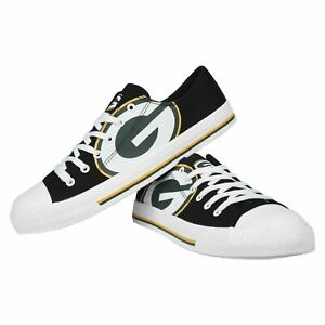 *NEW* Green Bay Packers NFL Men's Low Top Big Logo Canvas Shoes FREE SHIP
