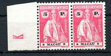 MACAU ,1923 , very scarce TOP STAMP  5 PATACAS , PAIR !! , MNH !
