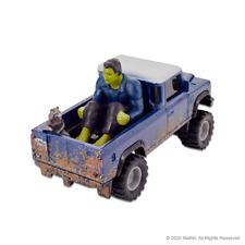 Hot Wheels Marvel Land Rover Defender 110 Pickup Truck with Hulk and Rocket