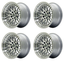 "ULTRALITE UL10 15"" x 8J ET10 4x100/114.3 SILVER LIP MESH ALLOY WHEELS JR10 Z2295"
