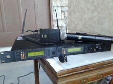 Shure combo U4D-UA/U1/U2 DUAL Chanel Handheld/Bodypa Wireless Microphone System.