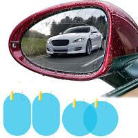 2pcs Car Rain Film Rearview Mirror Protector Film Anti Fog Membrane Rainproof