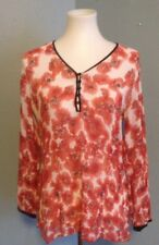 CHICO'S Size 1 (Medium) Blouse Tunic Floral Shirt Top Buttons