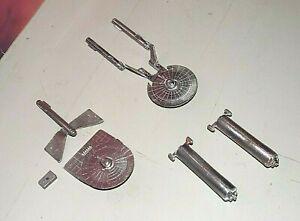 FASA STAR FLEET BATTLES STAR TREK FEDERATION LARSON,LOKNAR,TUGS (4 METAL SHIPS)