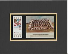 PITTSBURGH STEELERS MATTED PHOTO OF SUPER BOWL 10 GAME TICKET& TEAM 8x10