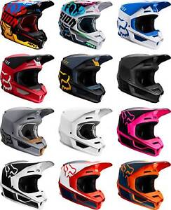 Fox Racing V1 Helmet - MX Motocross Dirt Bike Off-Road ATV MTB Adult Gear