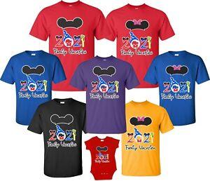 FAMILY VACATION Disney my trip 2021 T-shirts All Sizes Minnie Mickey ears new