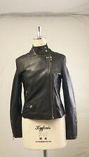 Muubaa Pola  Leather Biker Jacket In Brown  UK10 / US2 / EU34 RRP £375.00