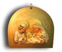 Muy Rara Icono Natividad ' en Cerámica Anni 50 sobre Base Vidrio Punto