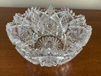 Antique American Brilliant Period (ABP) Fine Cut Heavy Crystal Bowl EXCELLENT!