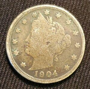 1904 Liberty Head V Nickel 5 Cents