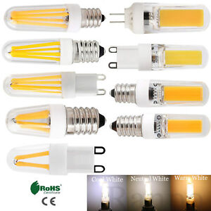E12 E14 G9 G4 Dimmable LED COB Filament Corn Light Bulbs Silicone Crystal Lamp