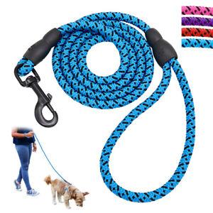 5 Foot Reflective Dog Leash Mountain Climb Nylon Braided Pet Leads Heavy Duty