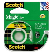 Scotch Magic Tape With Dispenser 1 ea (Pack of 6)