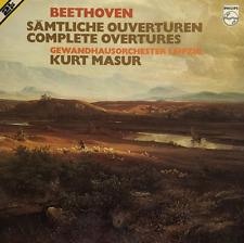 BEETHOVEN - Complete Overtures (Gewandhaus Orchester Leipzig/Masur) (LP) (EX/VG