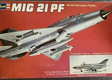 Revell MIG 21PF Soviet Interceptor Fighter - 1/32 Scale - Vintage 1975 Kit