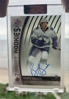 2019-20 UD Clear Cut Authentic Rookie SP Game Used Brock Boeser Tribute Auto RC