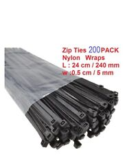 Cable Zip Ties 200 Nylon Wraps High Quality Strong Small Thin Long Thick UK