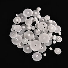 58pcs Plastic Gears M0.5 For Motor Robotics Model Shaft Part DIY Helicopter PL