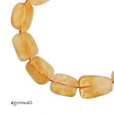 "Natural Citrine Tumble Nugget Beads ap. 13x18mm 8"" #62090"