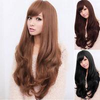 Women 65cm Long Curly Wavy Full Wig Heat Resistant Hair Cosplay Party Lolita