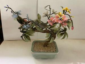 Small Vintage Glass Bonsai Tree
