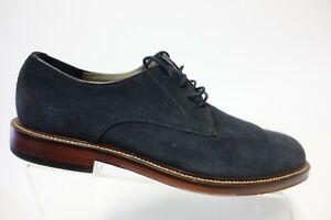 BANANA REPUBLIC Suede Blue Sz 9 M Men Plain-Toe Dress Shoe Oxfords