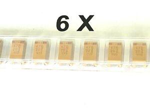 6 x 47uF, 20V, 10%, BF=X, Low ESR Tantal,SMD, 47µF,Kemet T495X476K020AS, 6 Stück