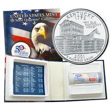 2001 Kentucky Phildelphia Mint - US Mint Licensed Quarter Roll Uncirculated