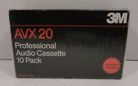 Lot of 10 Vintage 3M Avx 20 Professional Audio Cassette High Speed Sealed NIB