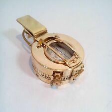 Solid Brass Nautical British Military Ww2 Mark Iii Prismatic Pocket Compass Gift