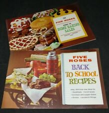 2 Vintage Five Roses Recipe Pamphlets Back to School Recipes and Home Baking...
