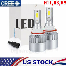 H11 H8 H9 LED Headlight Bulb 1800W 270000LM Conversion Kit Hi- Low Power 6000K