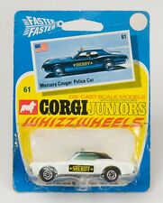 Corgi Juniors No. 61 Mercury Cougar Police Car.  MINT/CARDED. 1970's