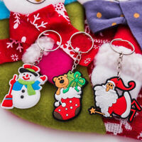 6pcs Cartoon Cute Creative Santa Claus Keychain key Ring Christmas Gift Pendants