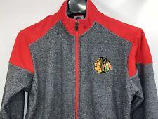 New! Licensed ,  Mens SMALL full-Zip Light  Chicago Blackhawks logo jacket