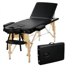 """SmileMart 84"""" Adjustable 3 Sections Massage Table Folding Massage Bed Spa Bed/Ta"""